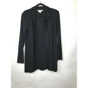 Exclusively Misook Black Open Cardigan S